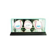 Desktop Triple Baseball Glass Display Case