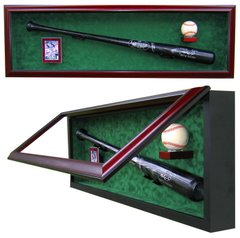 One Baseball Bat One Card and One Baseball UV Protective Display Case