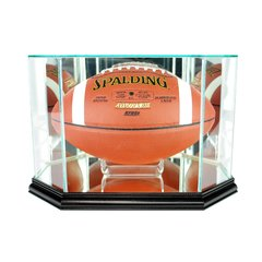 Octagon Football Glass Display Case