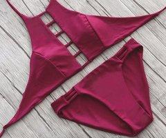 West Beach Bikini | Maroon Bandage -  Top