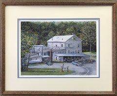 Amherst Milling Print Framed