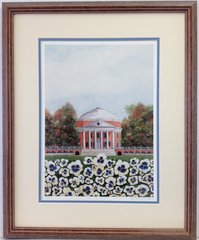 On The Lawn Framed