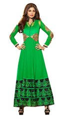 Shilpa Shetty Exclusive Green Anarkali SC6012