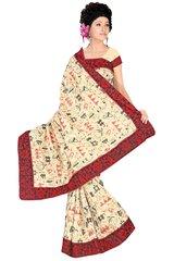Embroidered Bhagalpuri Cotton Silk Saree SC3115