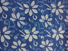Exclusive Indigo Blue Block Printed Fabric Precut 2.5 meter Material Only BP43S