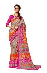Designer Pink Bhagalpuri Cotton Silk Saree SC3021