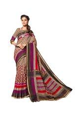 Designer Brown Bhagalpuri Cotton Silk Saree SC3037
