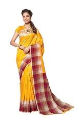 Designer Yellow Bhagalpuri Cotton Silk Saree SC3029