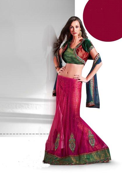 Designer Pink Net 3 pc Shrug Embroidered Saree SC2119