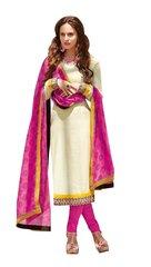 Designer Brasso Printed off Pink blue salwar kameez Material SC6383B