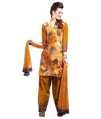 Cotton Mustard Salwar Kameez Churidar Fabric SC8134B
