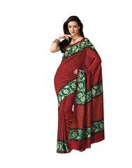 Red Bhagalpuri Cotton Silk Saree SC7231