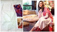 Designer Pakistani Replica Gul White Light Embroidered Dress Material Gul11004