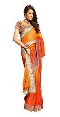 Orange Crepe Saree SC31510