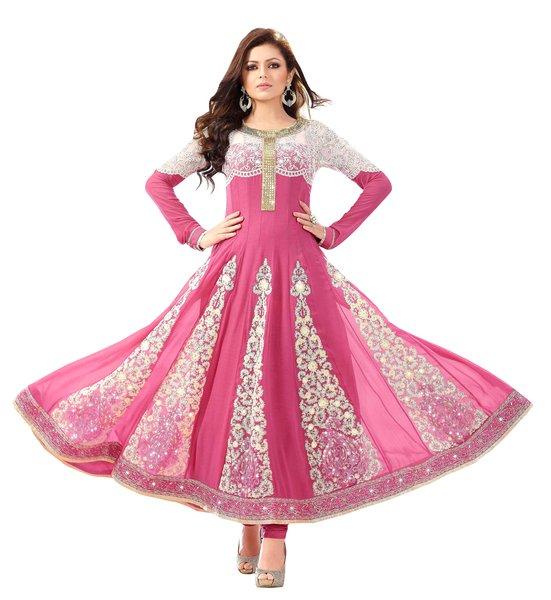 Designer Semi Stitched Pink Anarkali SC48003