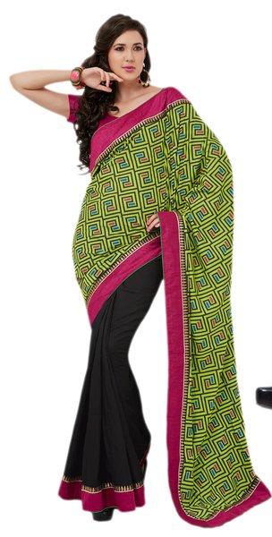 Designer Bhagalpuri Cotton Silk Printed and Lacer Border Saree SC1604