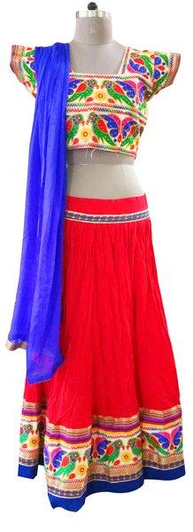 Garba Cotton Chaniya Choli 3 Piece Lehenga Kutchi Work GB02