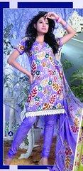 Spun Cotton Mauve Lacer Salwar Kameez Churidar Dress Meterial SC 1044A