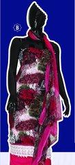 Spun Cotton Multi Pink Lacer Salwar Kameez Churidar Dress Meterial SC 1063B