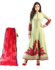 Designer Semi Stitched Sea Green Anarkali SC48009