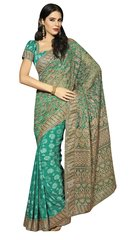 Designer Blue Schiffli Embroidered Net saree SC9012A
