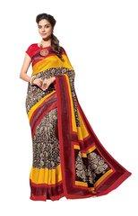 Designer Black Bhagalpuri Cotton Silk Saree SC3025