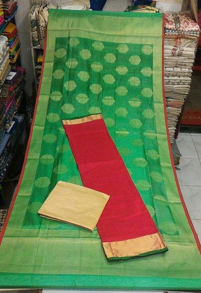 Designer Red Dupion Silk Kurta with Dupion silk Dupatta Silk3