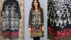 Designer Semi Stitched Black Pakistani Embroidered Kurti Kurta Tunic PK02