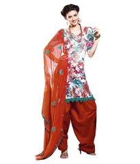 Cotton Green Salwar Kameez Churidar Fabric SC8141B