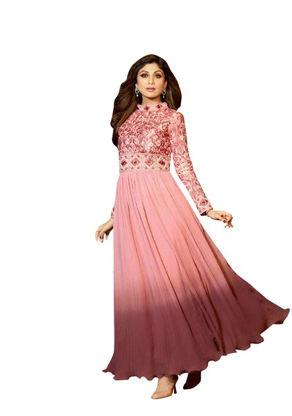 Shilpa Shetty Exclusive Pink Anarkali SC6008