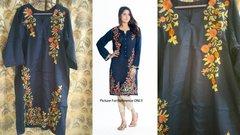 Designer Semi Stitched Blue Pakistani Embroidered Kurti Kurta Tunic PK01