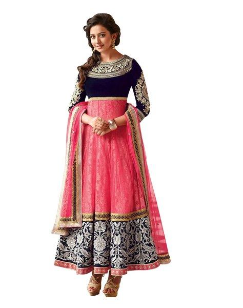 Rakulpreet Pink Semi Stitched Anarkali SC7288