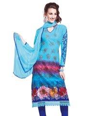 Cotton Peachy Pink Salwar Kameez Churidar Fabric SC8140B