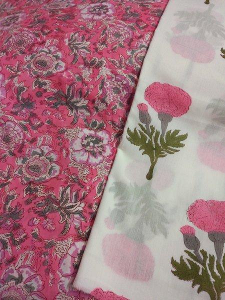 Exclusive Block Printed Kurta Palazo Pant Mughal Butta Fabric Only BP39