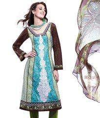 Cotton Black/Blue Salwar Kameez Churidar Fabric SC8139A