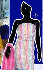 Spun Cotton Pink Lacer Salwar Kameez Churidar Dress Meterial SC 1057B