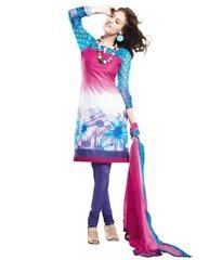 Cotton Purple Pink Salwar Kameez Churidar Fabric SC8129C