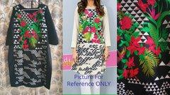 Designer Semi Stitched Black Pakistani Embroidered Kurti Kurta Tunic PK11