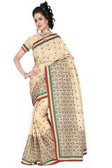 Embroidered Bhagalpuri Cotton Silk Saree SC3112