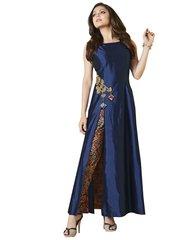 Designer Blue Silk Kurti Kurta Dress Size XL SCLT909