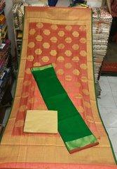 Designer Green Dupion Silk Kurta with Dupion silk Dupatta Silk2