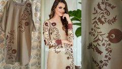 Designer Semi Stitched Light Brown Pakistani Embroidered Kurti Kurta Tunic PK08