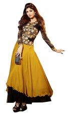 Shilpa Shetty Exclusive Yellow Anarkali SC6014