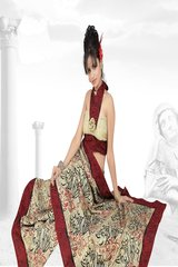Embroidered Bhagalpuri Cotton Silk Saree SC3105