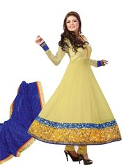 Designer Semi Stitched Green Anarkali SC48007