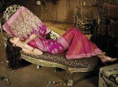 Designer Pink Schiffli Embroidered Net saree SC9014A