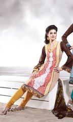 Cotton Blue/Green Salwar Kameez Churidar Fabric SC8139C