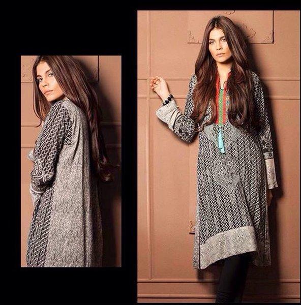 Designer Pakistani Mahi Zara Unstitched Kurti Kurta Embroidered Fabric Only MS5A