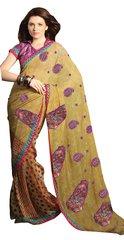 Designer Faux Chiffon Embroidered Saree SC1429