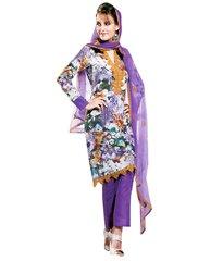 Cotton Purple  Salwar Kameez Churidar Fabric SC8142A